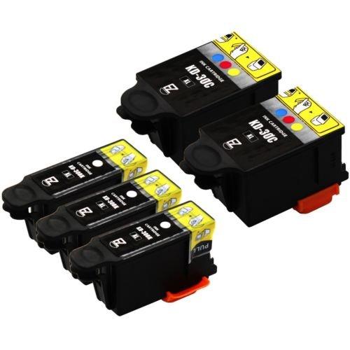 5-pack-30-xl-30xl-black-color-ink-cartridges-combo-for-kodak-esp-c315-printer