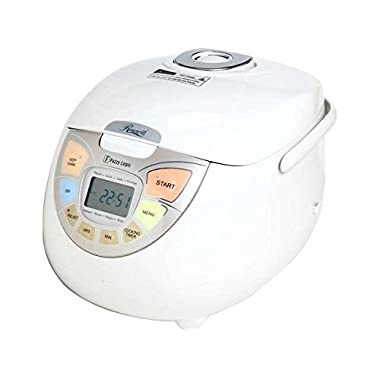 Rosewill RHRC-13002 10 Cup Uncooked Fuzzy Logic Rice Cooker and Food Steamer, White