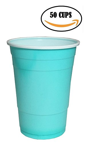 (Goodtimes Big Party Pack 50 Count Disposable Plastic Cups, 16-Ounce (Blue-Baby) )