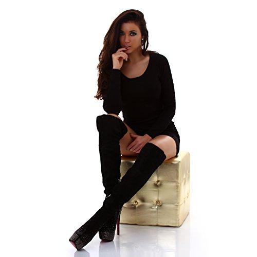 JELA London Women's Boots Black Ry4Ui2g