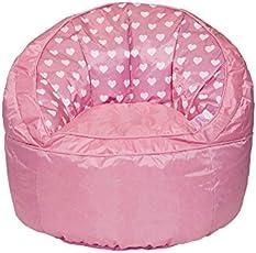 Heritage Kids Pink Hearts Toddler Bean Bag Chair, Pink