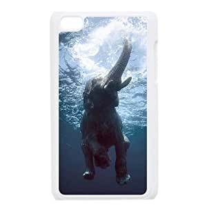 Bathing Elephant Customized Cover Case with Hard Shell Protection for Ipod Touch 4 Case lxa#845448