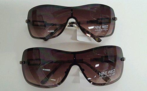 2 Pack Nine West Sunglasses Brown Shield Frames 100% UV P...