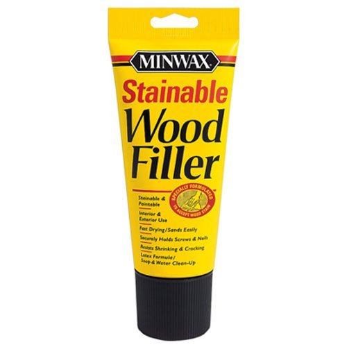 Fast Drying Wood - Minwax 42852000 Stainable Wood Filler, 6-Ounce