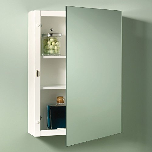 Jensen 235P26WH Topsider Specialty Medicine Cabinet, Single Door, Surface Mount