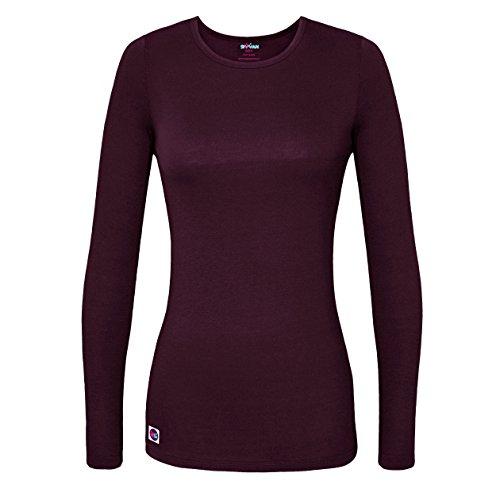 Sivvan Women's Comfort Long Sleeve T-Shirt / Underscrub Tee - S8500 - Eggplant - M ()
