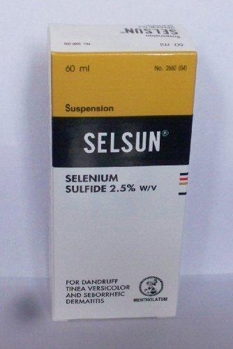 Selsun Shampooing sulfure de sélénium 2,5% p / v: 60 Ml.