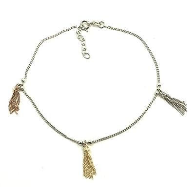 Discount Tassel Anklet - Gold Vermeil Sterling Silver Rose Gold Tassel Anklet free shipping