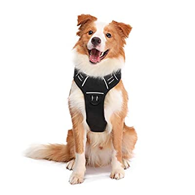 ATOPARK Dog Harness No-Pull Pet Harness leashes with 2 Metal Rings & Comfort Handle Adjustable Reflective Breathable Oxford Soft Material Vest Easy Control for Small Medium Large Dog