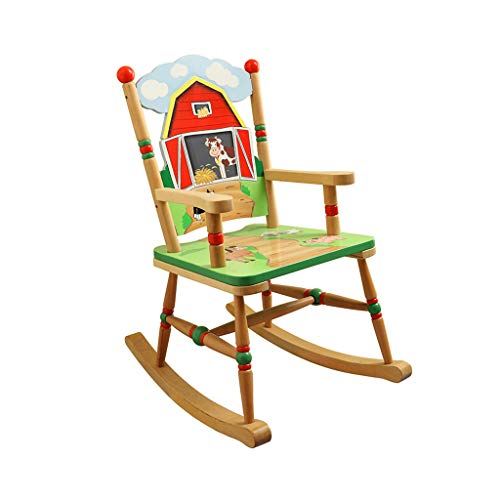 HYYTY-Y Kids Rocking Chair, Wooden Hand-Painted Ranch Armchair Child Girl Recliner ()