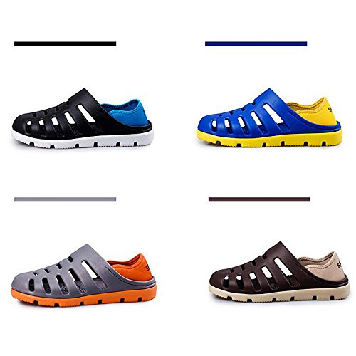 Hole slip Men Eastlion Beach Sandals Black Shoes Slippers Summer Shoes Casual Garden Non EXq6wpq