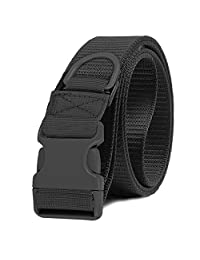 Selighting Tactical Belt Adjustable Quick Release Utility Belt with Buckle (Black)