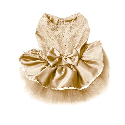 [Adorable Dog Cat Bowknot Lace Bubble Skirt Tutu Dress Puppy Pet Christmas Party Costume Coat Clothes Pet Princess] (Ups Package Costume)