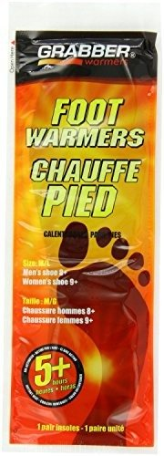Grabber Warmers 5+ Hour Ultra Thin Foot Warmer Insoles, ( Medium/Large), 60 Pairs by GRABBER WARMERS (Image #1)