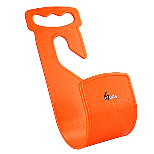 Gada Durable Hose Wall Mount Hanger, Support for Garden Hose Holder, Rust-Free Hook Fit to 25ft 50ft 75ft 100ft 150ft Water hose hanger (Orange)