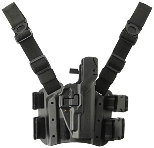 BLACKHAWK! Serpa Level 3 Tactical Black Holster, Size 00, Right Hand (Glock17/19/22/23/31/32)