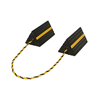 ABN Rubber Wheel Chock with Rope – Aircraft Plane, Trailer, RV, Car, Truck, ATV – Tire Traction Stabilizer Dual Twin Set: Automotive