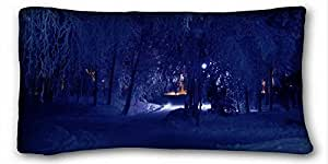Custom Nature Custom Cotton & Polyester Soft Rectangle Pillow Case Cover 20x36 inches (One Side) suitable for Full-bed