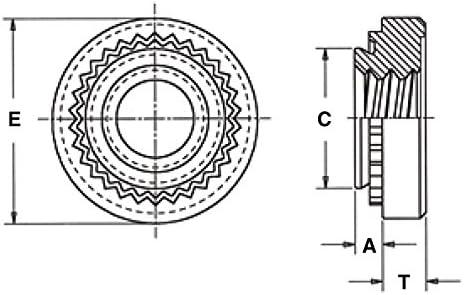 Pem Trident Locknuts SL-M6-2ZI Type SL Metric