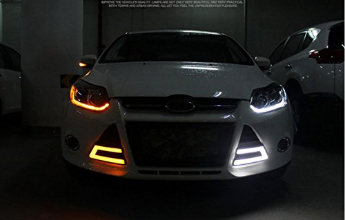 GOWE Car Styling Headlights for Ford Focus 2012-2014 LED Headlight for Focus Head Lamp LED Daytime Running Light LED DRL Color Temperature:4300k;Wattage:55w 1