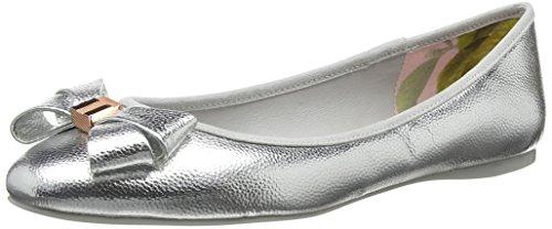 Ted Baker Immet 2 - Silver PU Tumble Metallic (Man-Made) Womens Pumps zumgTi