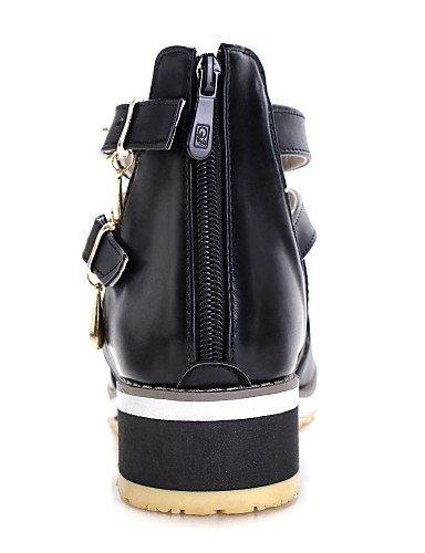 Career Black White Dress Sandals Toe Shoes Heel Peep Womens Low Office ShangYi amp; Comfort Black C6wqvgnx