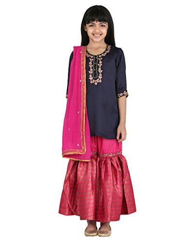Fabindia Girls Modal Embroidered Gharara Set/8-10Yr by Fabindia