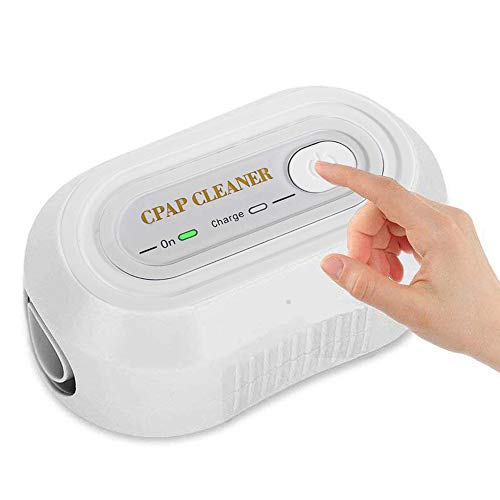 Auto CPAP Cleaner Disinfector, Carejoy Portable Air Tubes Cleaning Ozone Disinfection Sanitizer Equipment and Mask Clean Fit for Machine Mask Hose Pipe Tube Accessories 2200mAh Home (White)