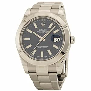 Rolex Datejust II swiss-automatic mens Watch 116300 (Certified Pre-owned)