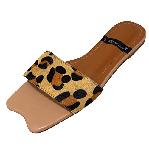 120858d0840d1 Amazon.com: ❤ Mealeaf ❤ Summer Flat Slippers Female Leopard ...