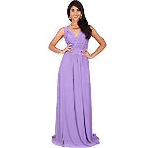 8da38fd146f KOH KOH Plus Size Womens Long Sleeveless Flowy Bridesmaids Cocktail Party  Evening Formal Sexy Summer Wedding Guest Ball Prom Gown Gowns Maxi Dress  Dresses