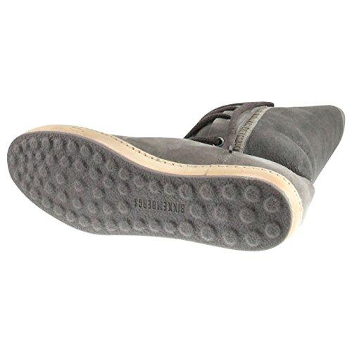 BIKKEMBERGS Damen Leder Stiefel Snake 666 Suede-Shierling Grey BKE105191 Größe 40