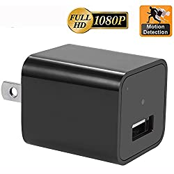 1. Hidden Cameras Charger Adapter, EOVAS 1080P HD USB Wall Charger
