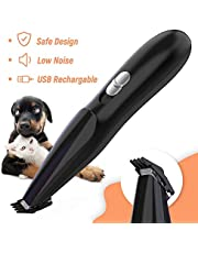 Dog Grooming Clipper, Cat Dog Clipper Pet Hair Trimmer, Rechargeable Wireless Design Low Noise Electric for Hair Around Face, Eyes, Ears, Paw, Rum