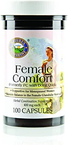 Nature's Sunshine Female Comfort, 100 Capsules | This Women's Formula Provides Natural Nutritional Support to the Female Reproductive System During Menopause