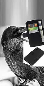 // PHONE CASE GIFT // Moda Estuche Funda de Cuero Billetera Tarjeta de crédito dinero bolsa Cubierta de proteccion Caso Sony Xperia Z2 D6502 / Raven B&W /