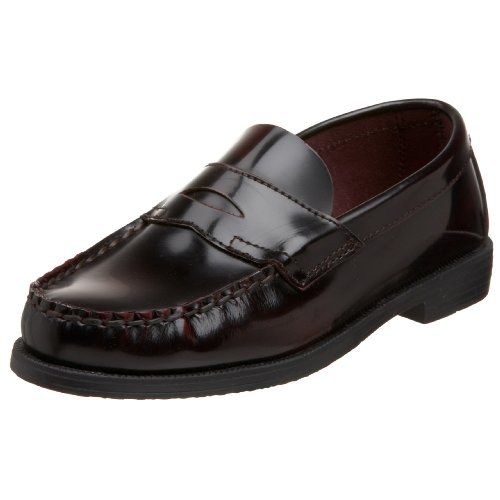 Boys Penny Loafers - School Issue Simon 4001 Loafer ,Burgundy,3.5 M US Big Kid