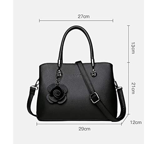 En La Seau Sac Capacité Bag Qualité Brown Main De Shopping Grande Femme Cuir Bandoulière Rangement À Messenger Laidaye Yxdgwanqg