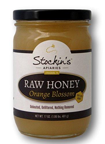 Stockin's Unprocessed Raw Orange Blossom Honey, 17 Oz. Jar