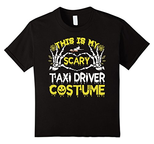 Kids This is my scary Taxi Driver costume Halloween T-shirt 8 (Taxi Costume)