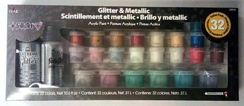 FolkArt Metallic Paint Set, 32 Colors