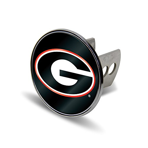 Rico NCAA Georgia Bulldogs Laser Cut Metal Hitch Cover, Large, Silver