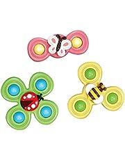 3 st sugkopp leksak topp spinner leksak bord sugare spel insekt blomma leksak tidigt lärande leksaker för baby barn flickor pojkar