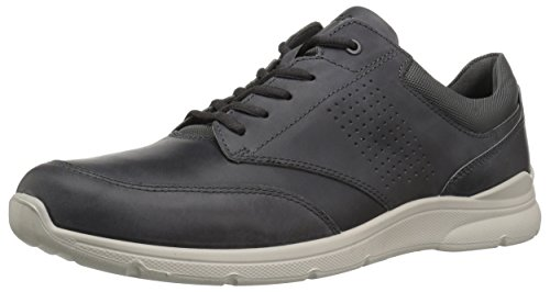 - ECCO Men's Irving Casual Tie Sneaker, Moonless, 42 M EU (8-8.5 US)