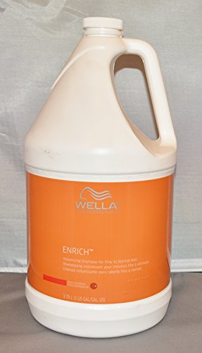 Wella Enrich Volumizing Shampoo for Fine to Normal Hair Gallon/128oz Includes Pump (Normal Full Volume Shampoo)