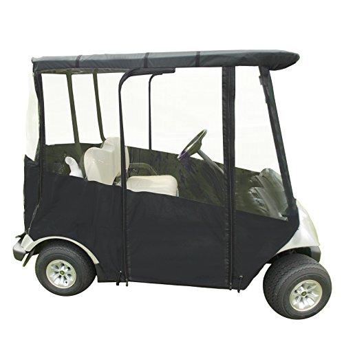 Portable Yamaha Drive Golf Cart Cover by DoorWorks (Black - Marine Grade Vinyl, Yamaha Drive & Drive 2)