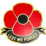 2017 Lest We Forget Remembrance Poppy Badge