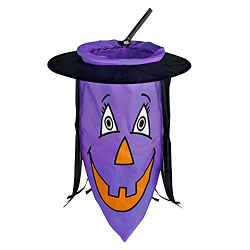 [Scream Machine Witch Hat Tote Bag On Stick (One Size) (Purple)] (Official Scream Costumes)