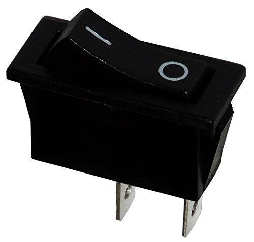 AERZETIX - Interrupteur commutateur contacteur bouton à bascule noir SPST ON-OFF 10A/250V 2 positions SK2-C10672-R28