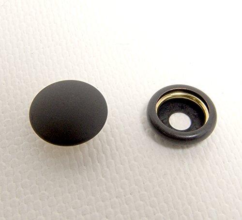 Snap Cap & Socket, Black Oxide Coated Brass, 25 of Each Piece (Standard Tarp)